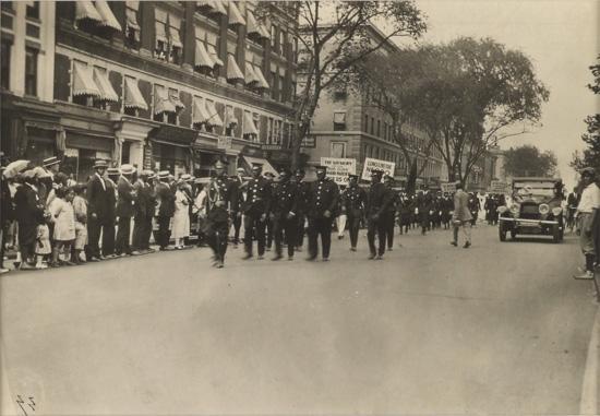 JAMES VANDERZEE (1886 - 1983) Untitled (Marcus Garvey's 1924 Demonstration Parade).