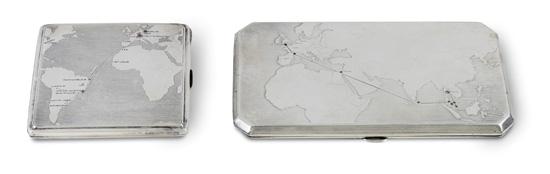 (ZEPPELIN.) Silver cigarette case,
