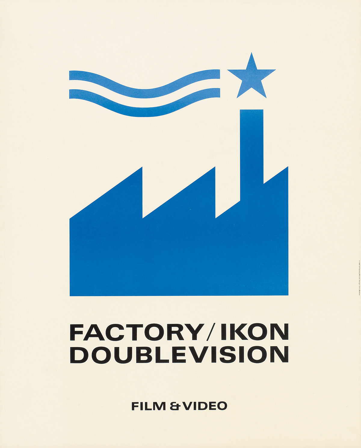 CHRIS MATHAN (DATES UNKNOWN). FACTORY / IKON / DOUBLEVISION. 1987. 23x19 inches, 59x48 cm. Of Factory NY Ltd., New York.
