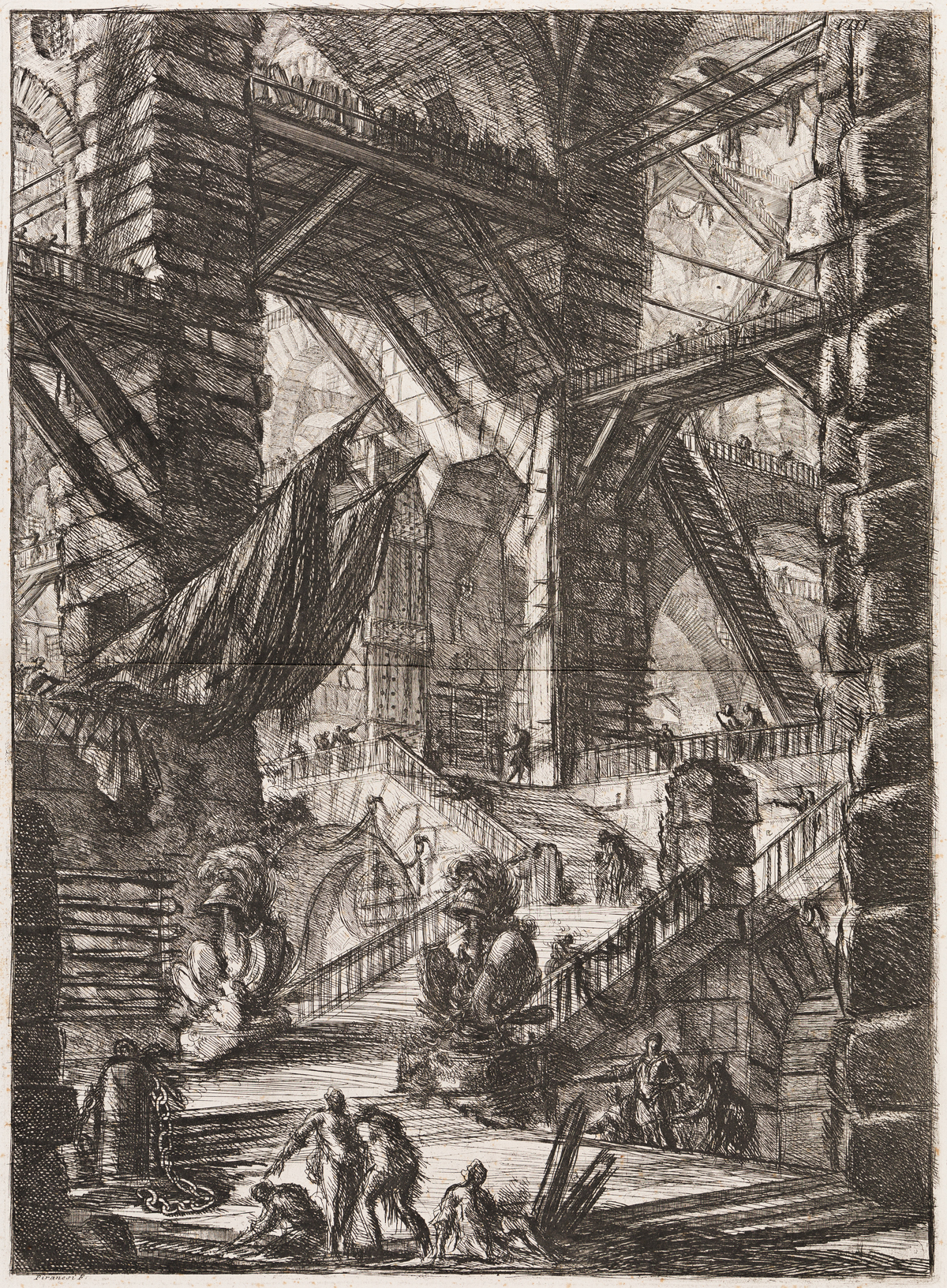 GIOVANNI B. PIRANESI The Staircase with Trophies.