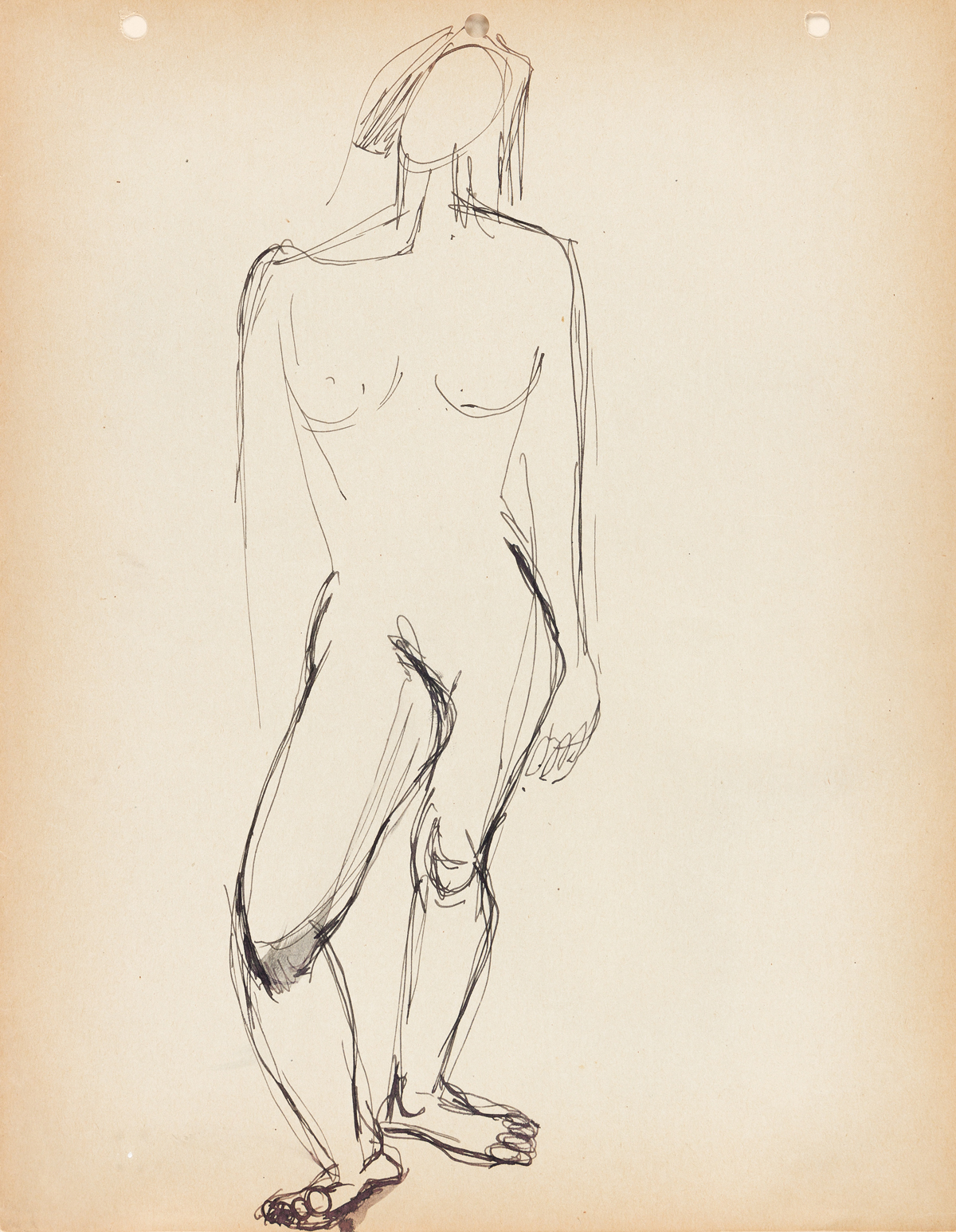 NORMAN LEWIS (1917 - 1979) Untitled (Female Nude).