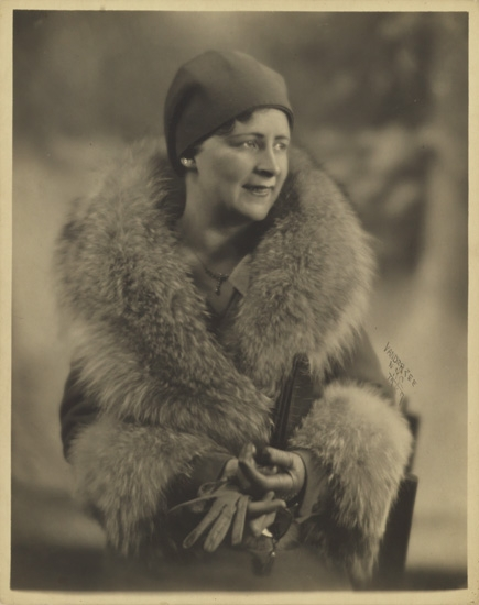 JAMES VANDERZEE (1886 - 1983) Untitled (Portrait of a Society Woman in Fur).