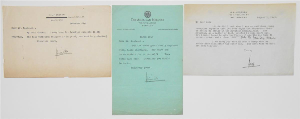 MENCKEN-HL-Three-Typed-Letters-Signed-HLMencken-or-HLM-to-Ro