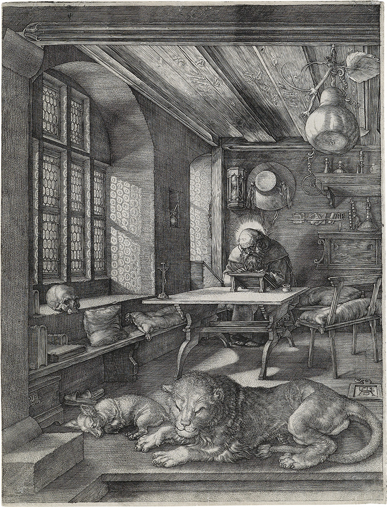 ALBRECHT-DÜRER-St-Jerome-in-his-Study