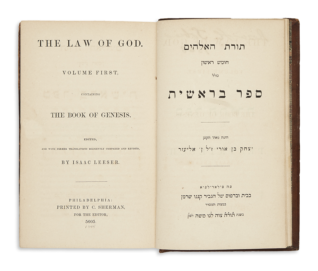 (JUDAICA.) The Law of God.