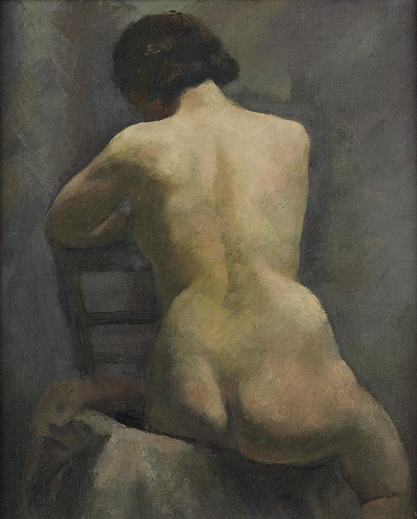 LOÏS-MAILOU-JONES-(1905---1998)-Nude-Paris-(Etude)