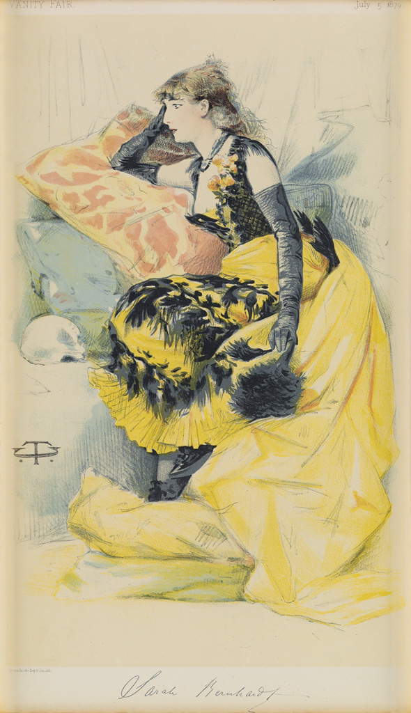 CT-(INITIALS-UNKNOWN)-SARAH-BERNHARDT--VANITY-FAIR-1879-13x7