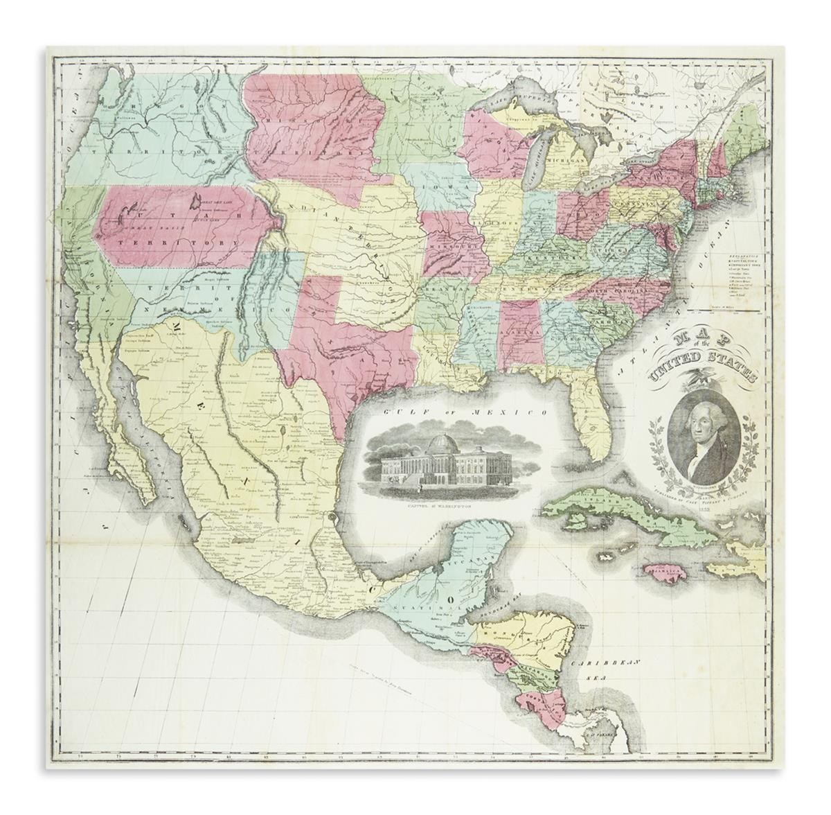 CASE, TIFFANY & COMPANY. Map of the United States.