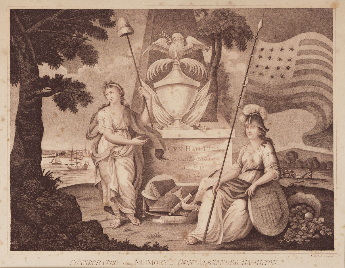 (FOUNDING FATHERS.) John Scoles, engraver. Consecrated to the Memory of Gen. Alexander Hamilton.