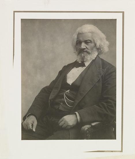 (SLAVERY AND ABOLITION--DOUGLASS, FREDERICK.) BATTEY, CORNELIUS. Silver print portrait.