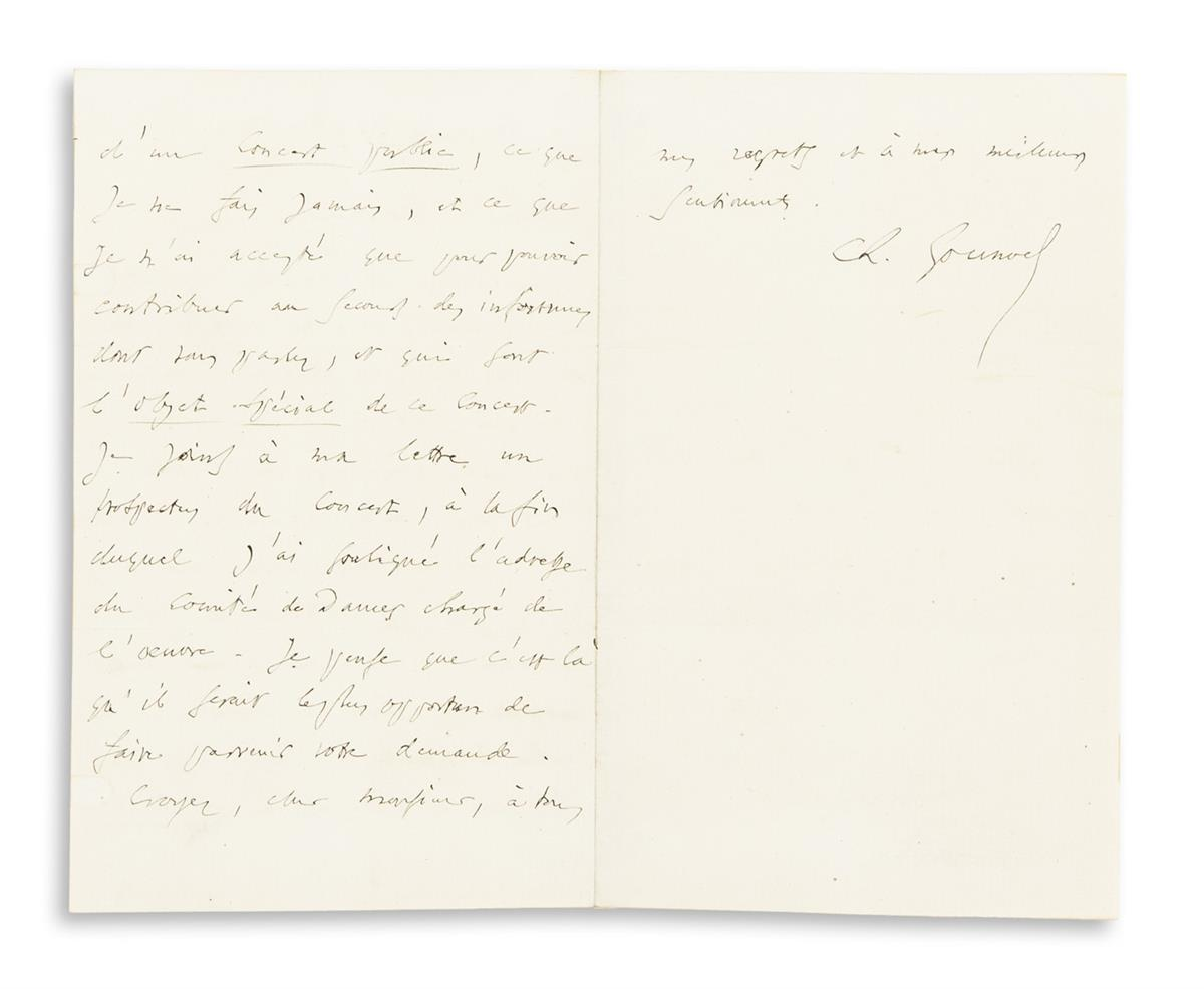 GOUNOD-CHARLES-Autograph-Letter-Signed-Ch-Gounod-to-an-unnamed-recipient-(Dear-Sir)-in-French