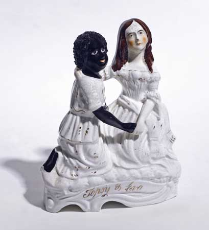 (SLAVERY AND ABOLITION--STOWE, HARRIET BEECHER.) Topsy & Eva.