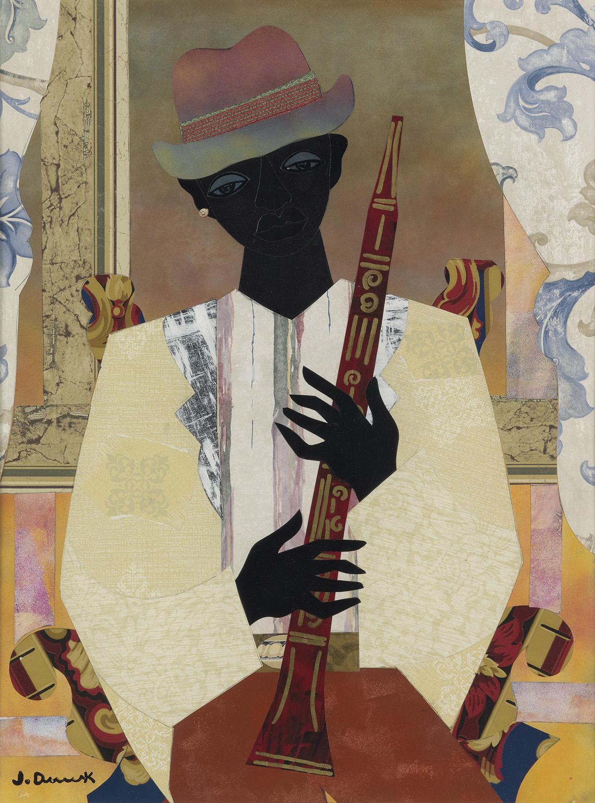 JAMES-DENMARK-(1936-----)-Clarinet-Player