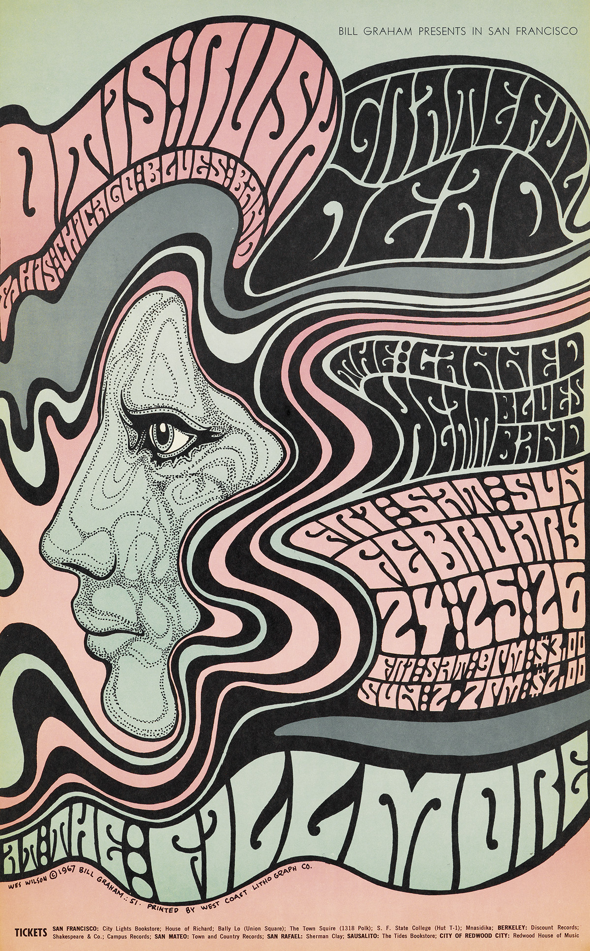WES-WILSON-(1937--)-[PSYCHEDELIC-ROCK-CONCERTS]-Group-of-5-p