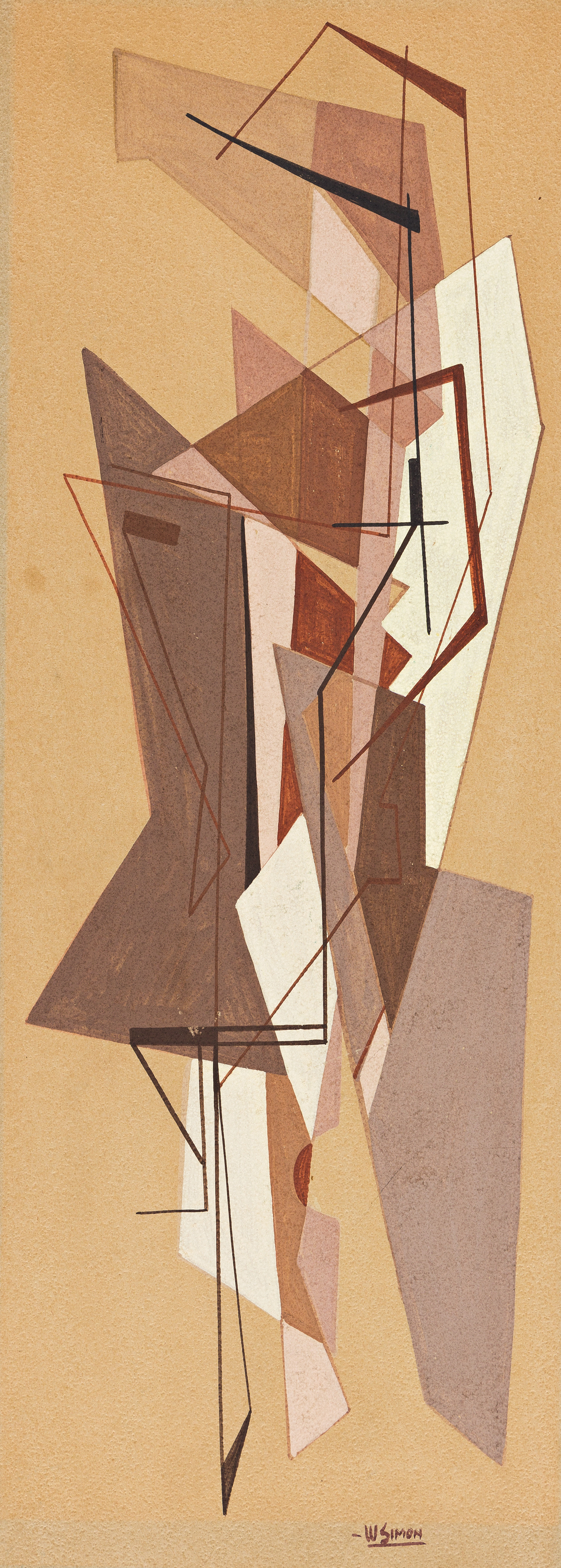 WALTER AUGUSTUS SIMON (1916 - 1979) Untitled (Study in Brown).