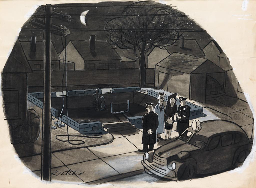 MISCHA-RICHTER-Pantomime-cartoon-for-The-New-Yorker