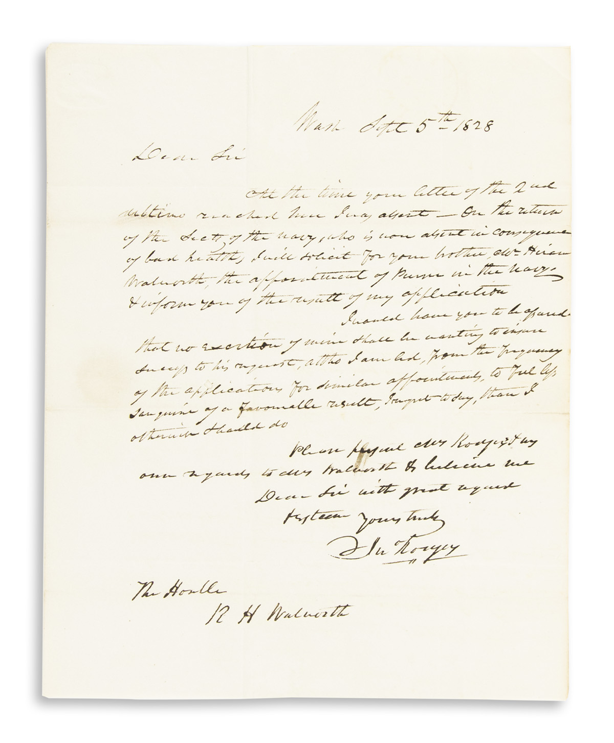 RODGERS-JOHN-Autograph-Letter-Signed-to-Chancellor-of-New-Yo