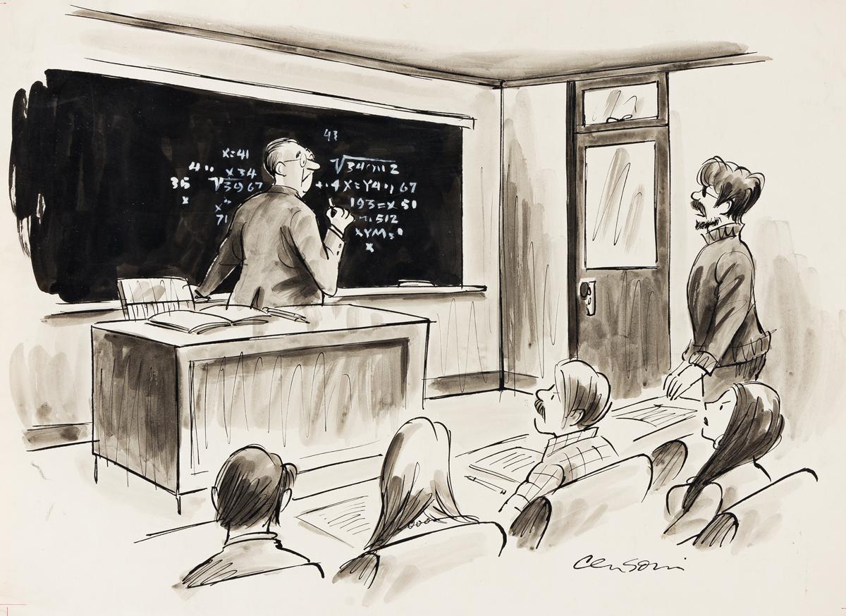 ROBERT CENSONI (20th century) We, the students... [CARTOONS / PLAYBOY]