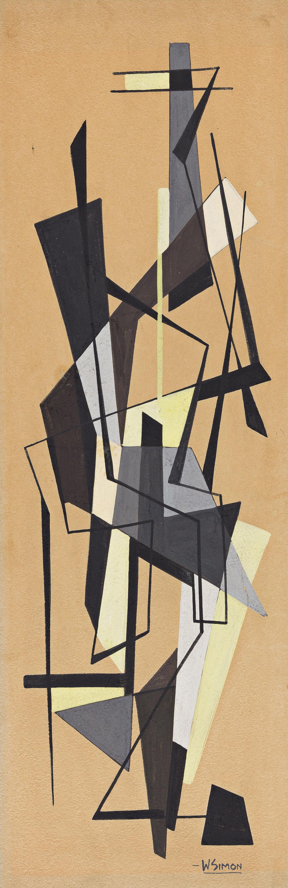 WALTER AUGUSTUS SIMON (1916 - 1979) Untitled (Study in Grey).