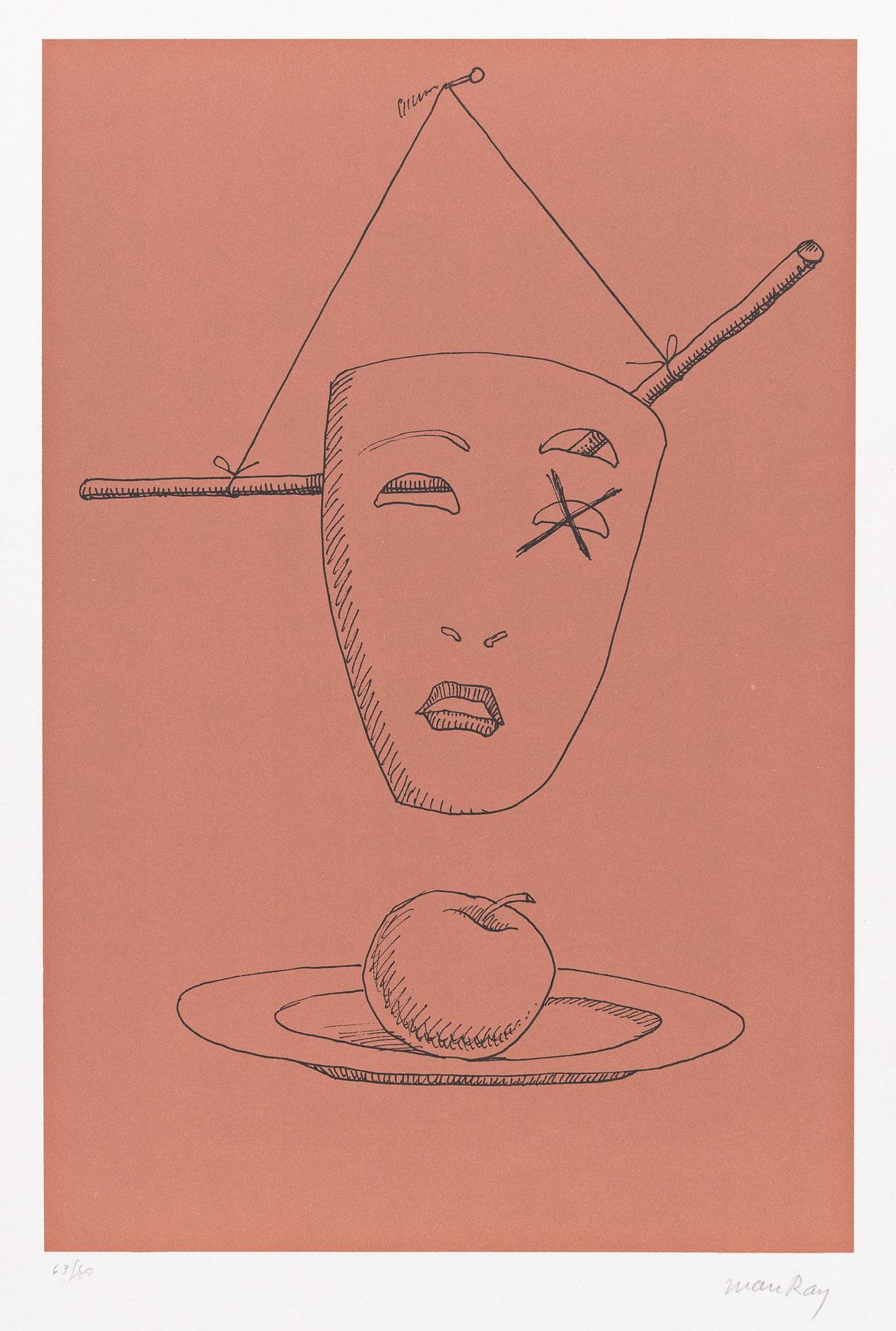 MAN RAY (1890-1976) Les Six Masques Voyants.