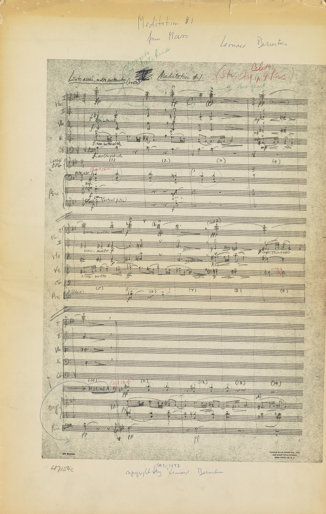 BERNSTEIN-LEONARD-Printed-score-for-Two-Meditations-from-Mas
