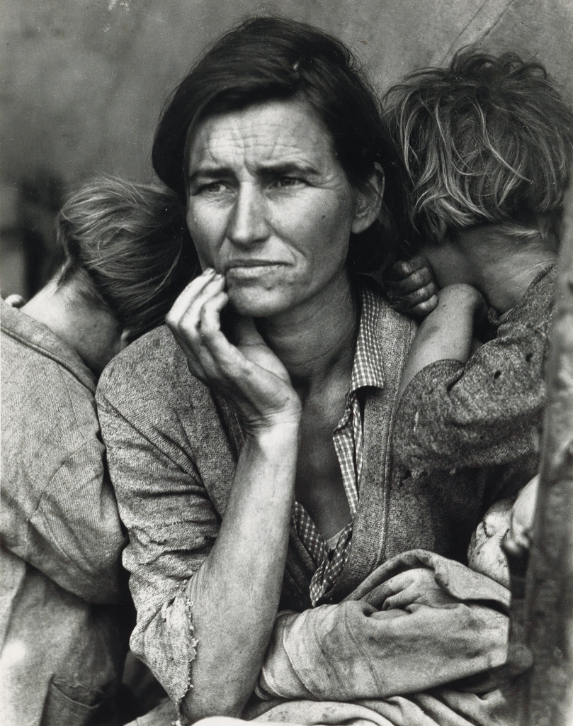 (DOROTHEA LANGE; WALKER EVANS; ARTHUR ROTHSTEIN; BEN SHAHN) Group of 6 F.S.A.-period images, selected and printed by Arthur Rothstein.