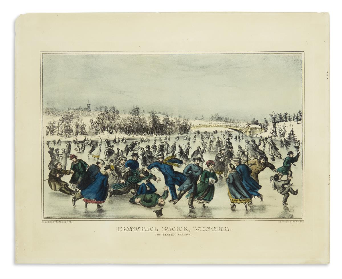 CURRIER--IVES-Central-Park-Winter-The-Skating-Carnival