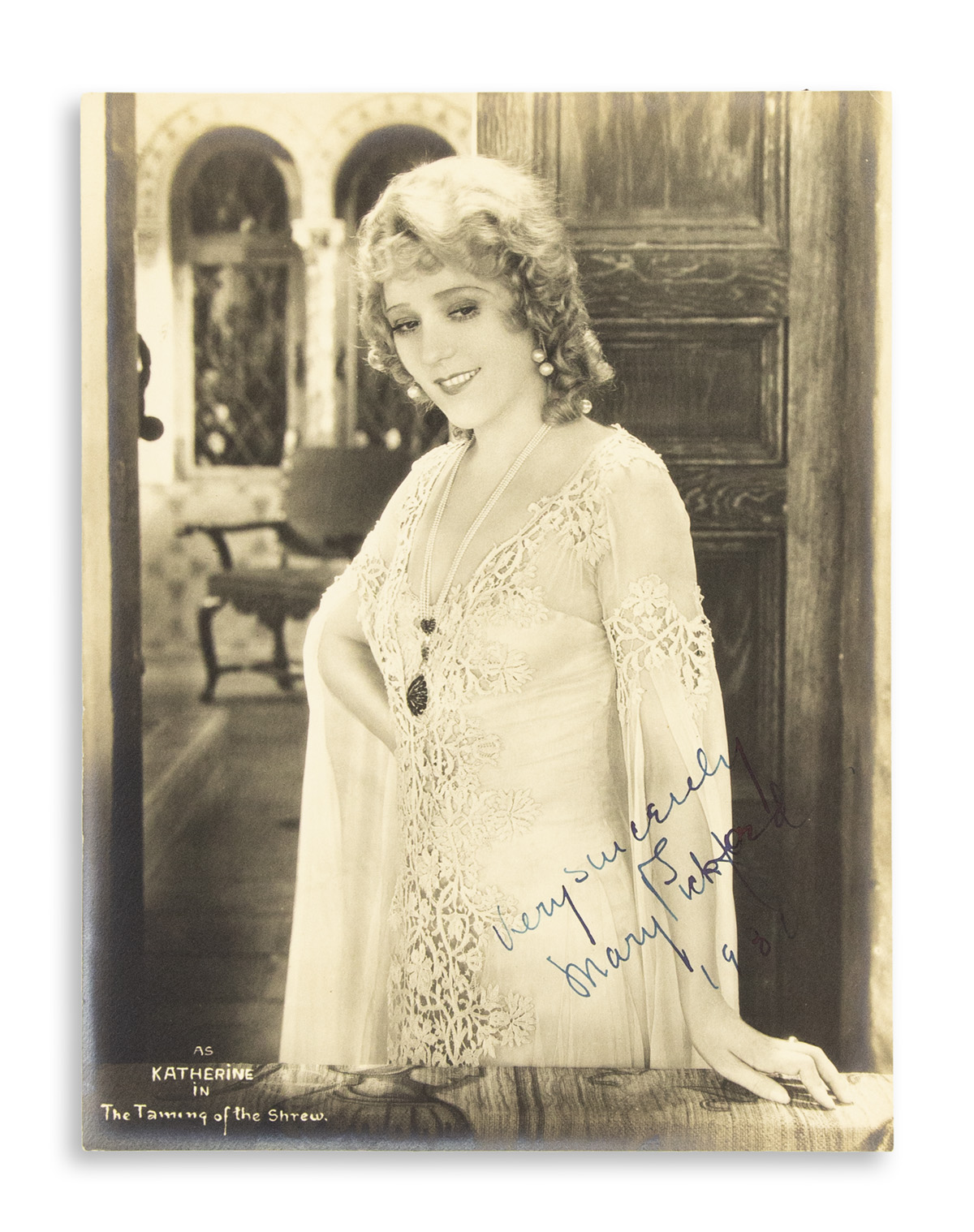 PICKFORD-MARY-Photograph-Signed-and-Inscribed-Very-sincerely