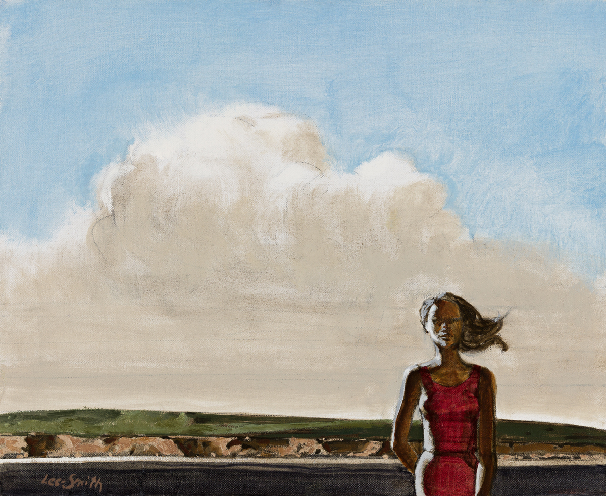 HUGHIE LEE-SMITH (1915 - 1999) Untitled (Study of a Woman in a Landscape).