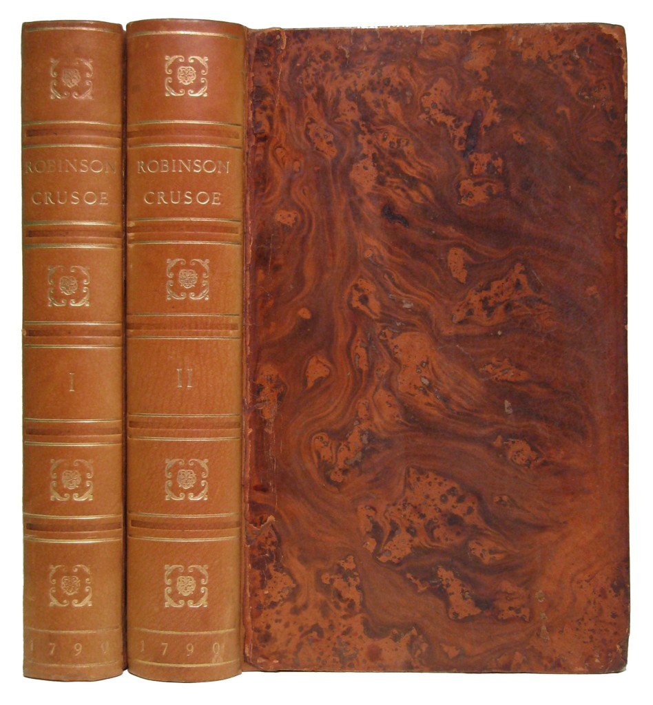 DEFOE, DANIEL. The Life and Strange Surprizing Adventures of Robinson Crusoe, of York, Mariner.  2 vols.  1790