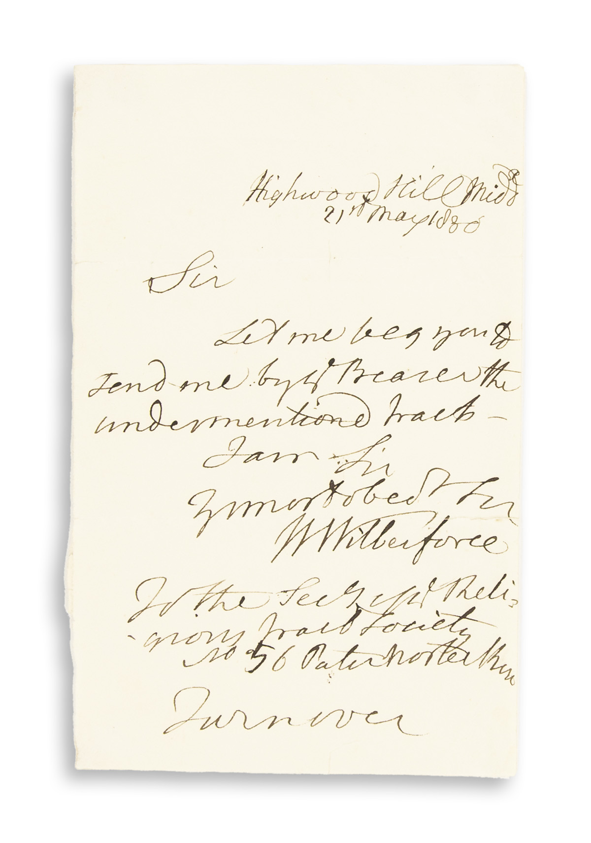 WILBERFORCE-WILLIAM-Brief-Autograph-Letter-Signed-WWilberfor