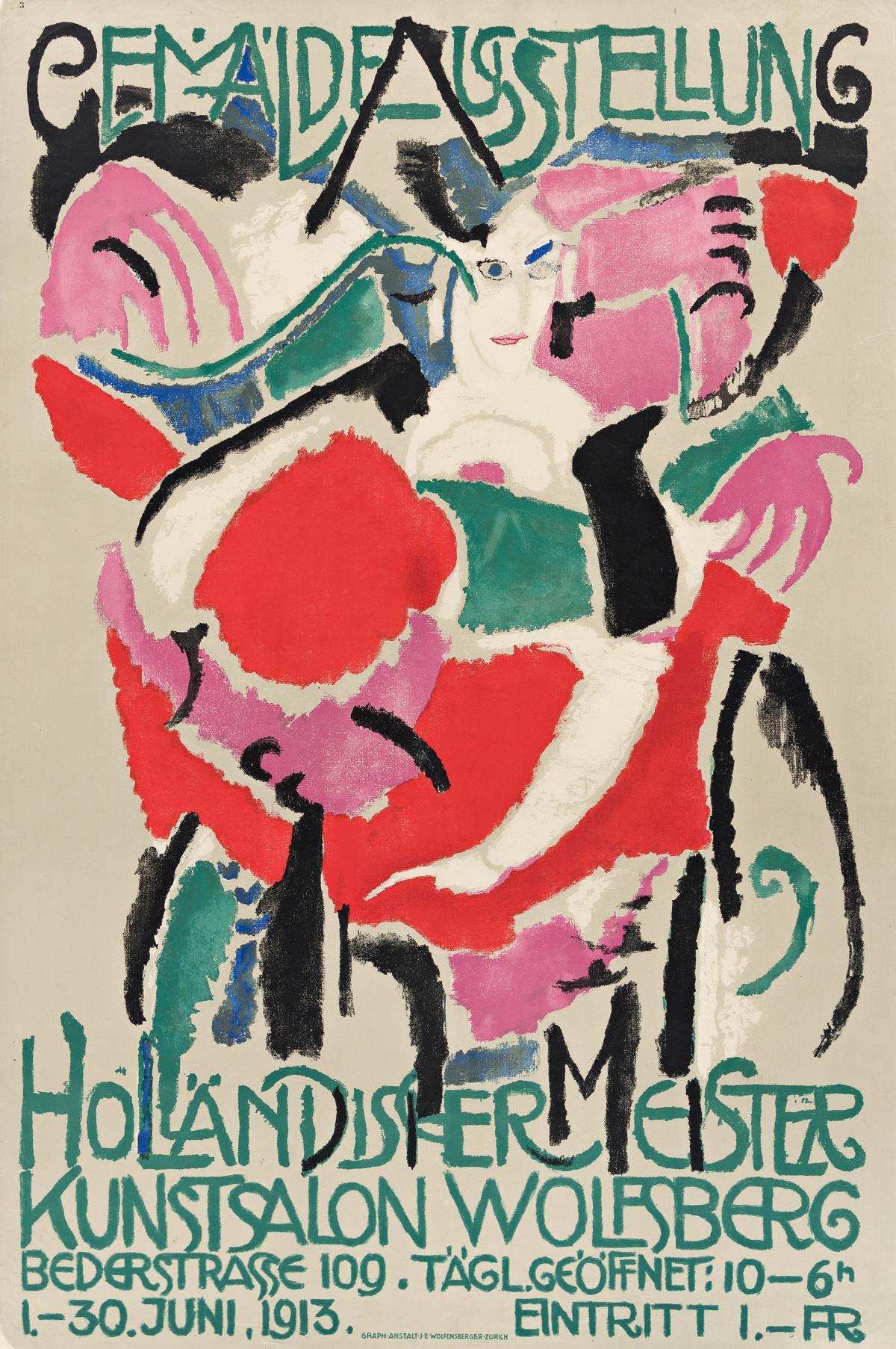 JAN SLUIJTERS (1881-1957).  GEMÄLDE AUSSTELLUNG HOLLÄNDISCHER MEISTER. 1913. 41¼x27¼ inches, 104¾x69¼ cm. J.E. Wolfensberger, Zurich.