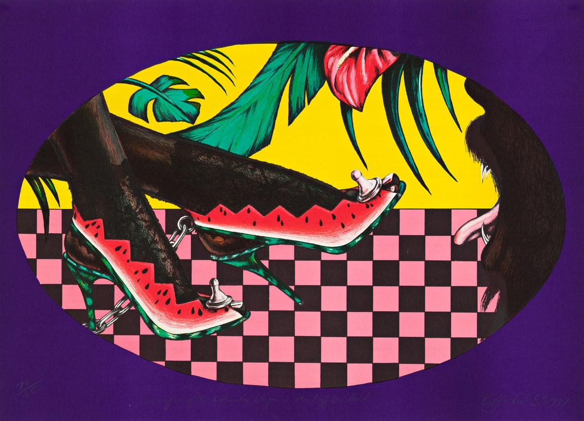 BARKLEY L. HENDRICKS (1945 - 2017) Sacrifice of the Watermelon Virgin or Shirt Off Her Back.