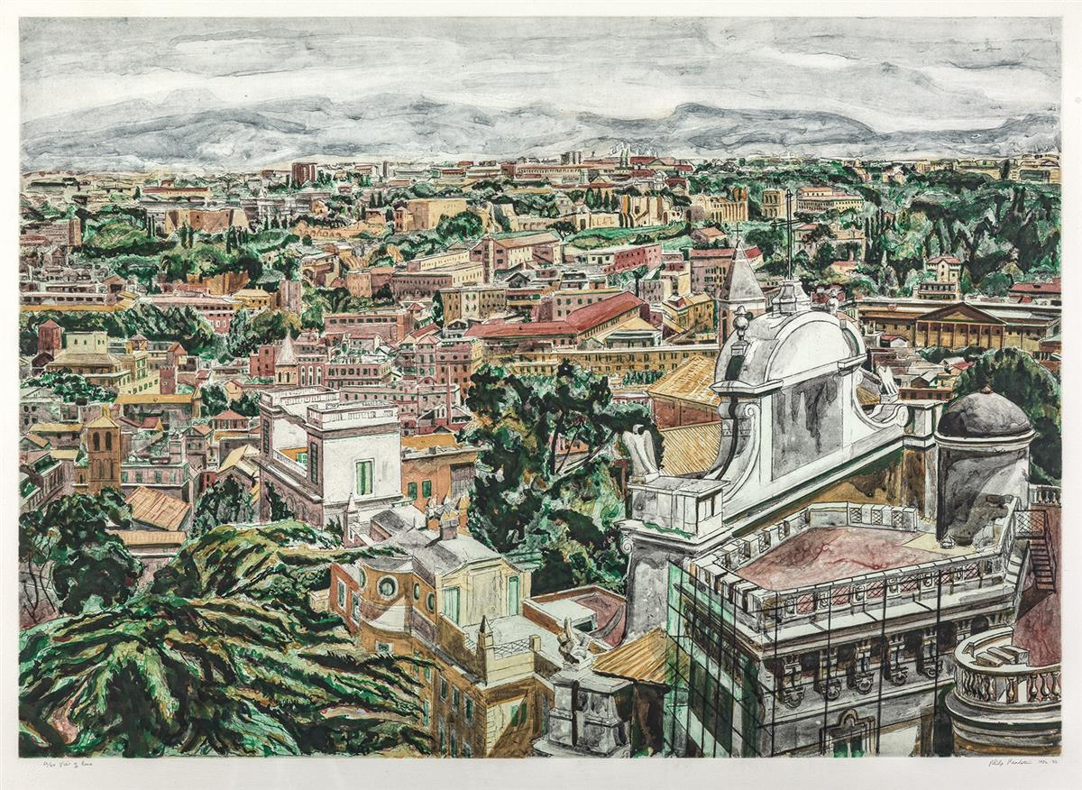 PHILIP PEARLSTEIN View of Rome.