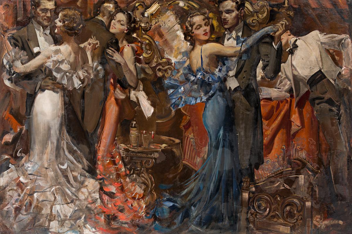 ELBERT McGRAN JACKSON (1896-1962) Such a gay party at Barry Snayres!... [COSMOPOLITAN]