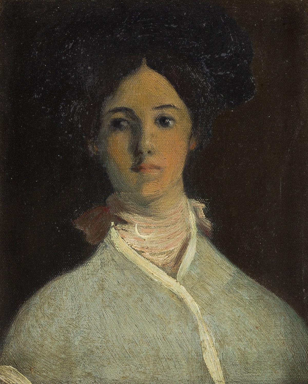 ARTHUR B. DAVIES (1862-1928) Portrait of a Woman.