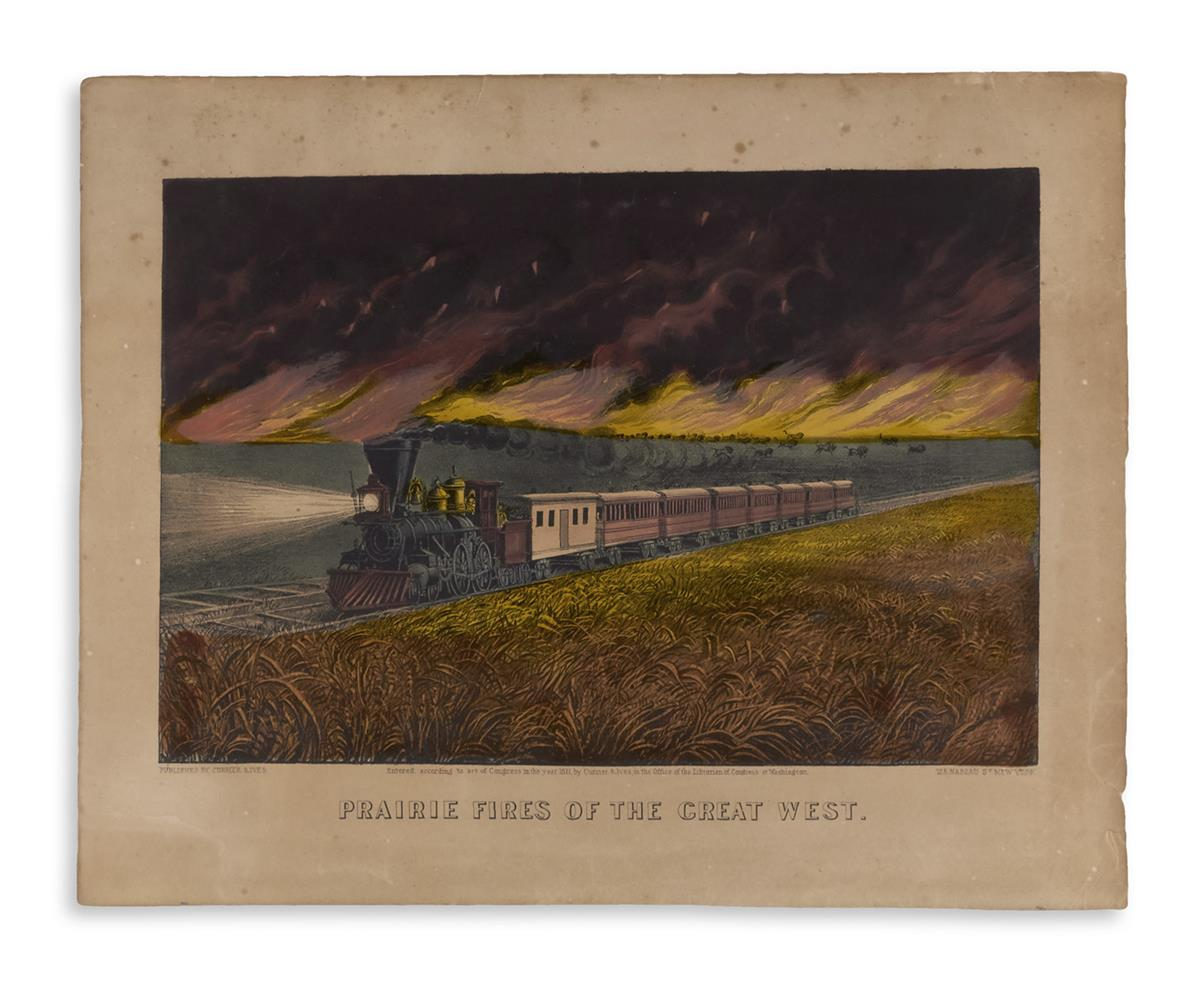CURRIER--IVES-Prairie-Fires-of-the-Great-West