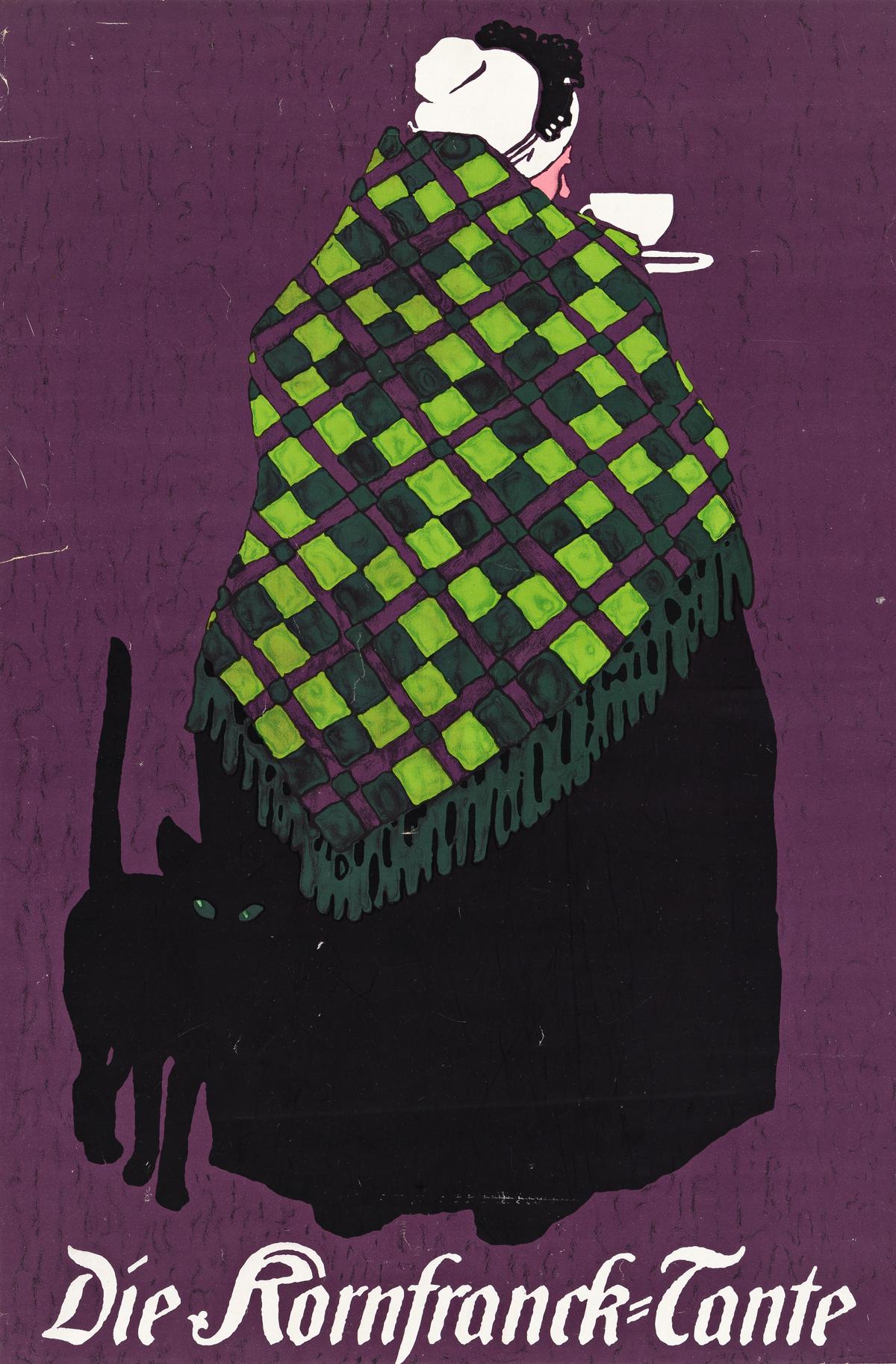LOUIS OPPENHEIM (1879-1936).  DIE KORNFRANCK - TANTE. Circa 1908. 26¼x17¼ inches, 66¾x43¾ cm. [Kornfranck Gesellschaft mit beschränkt