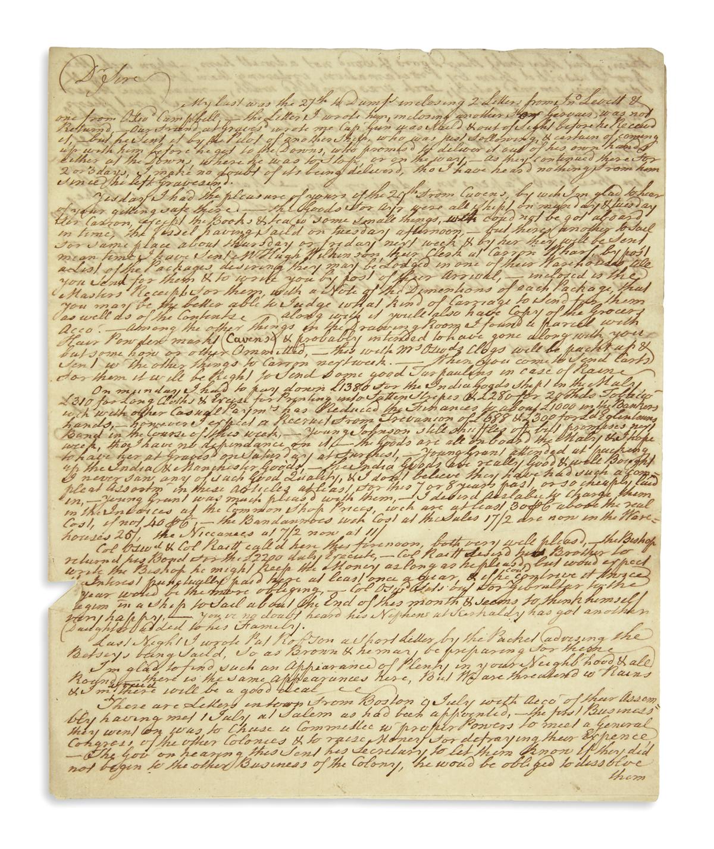 (AMERICAN-REVOLUTION--PRELUDE)-Herries-Michael-Letter-offeri
