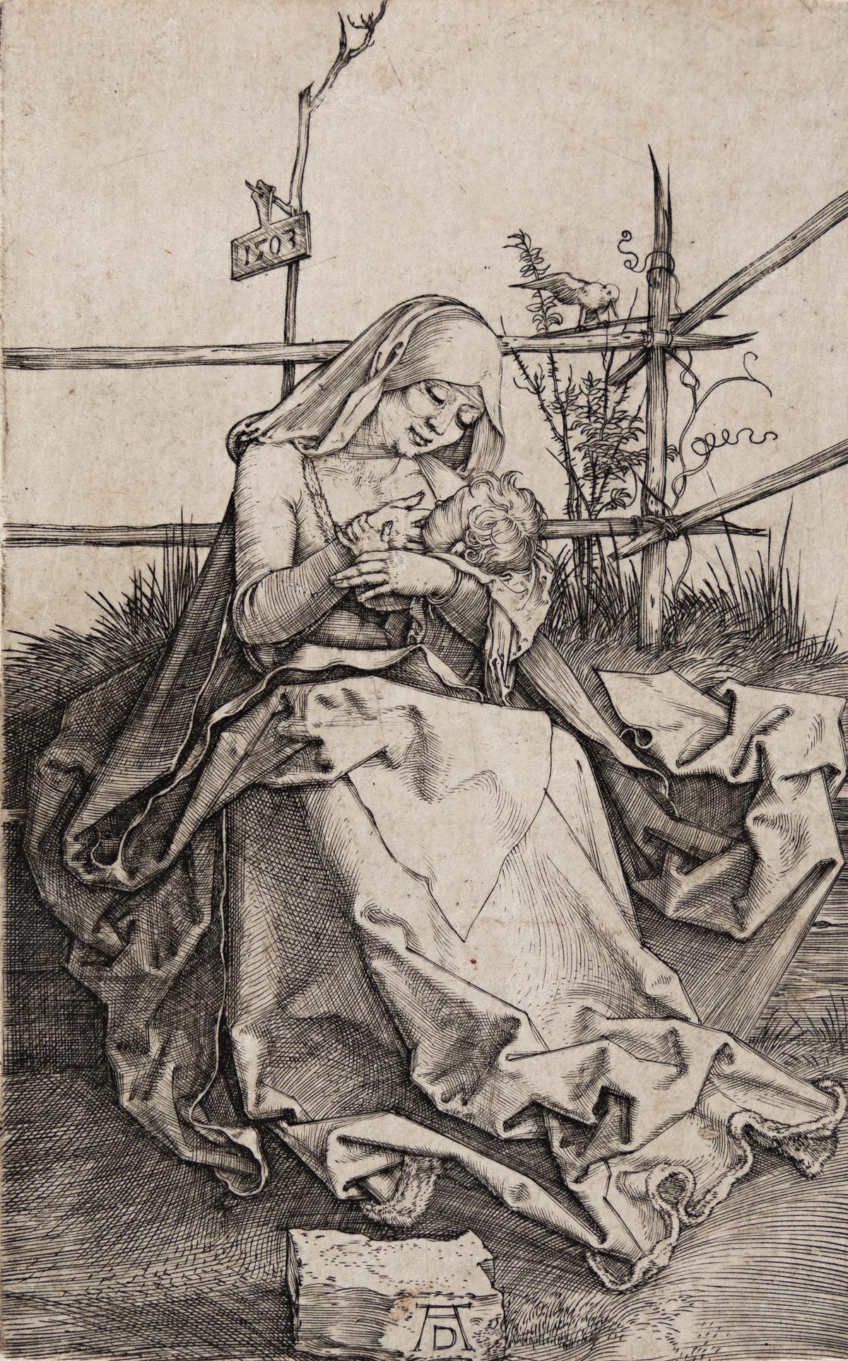 ALBRECHT DÜRER The Virgin and Child on a Grassy Bank.