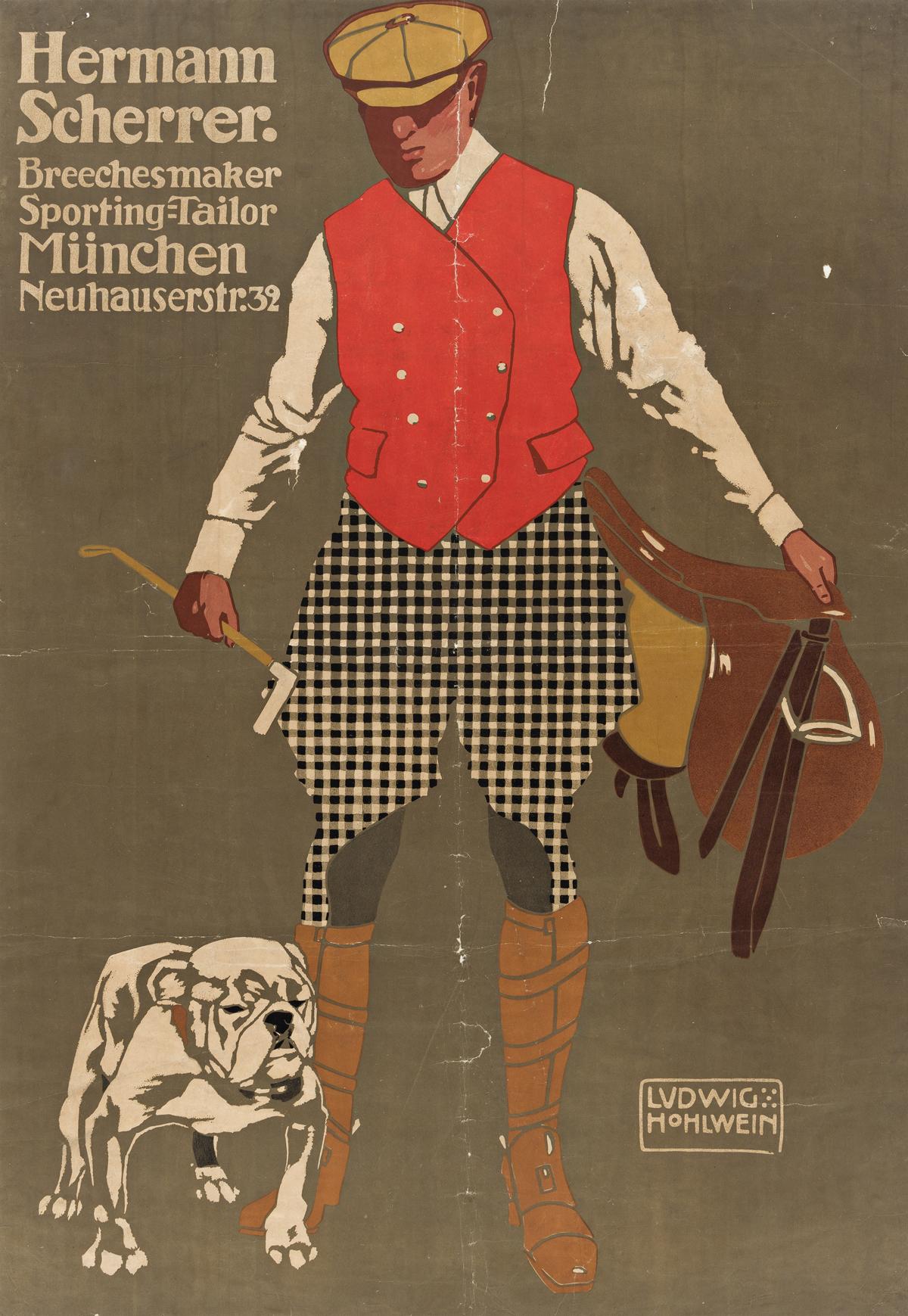 LUDWIG HOHLWEIN (1874-1949).  HERMANN SCHERRER. 1907. 38¼x26¼ inches, 97¾x67¼ cm. [Schön & Maison, Munich.]