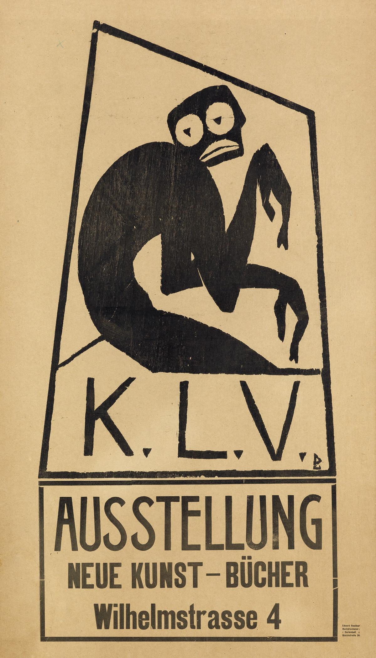 DESIGNER-UNKNOWN-KLV--AUSSTELLUNG-NEUE-KUNST---BÜCHER-25x14-
