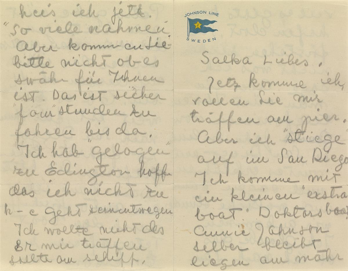 GARBO, GRETA. Archive of over 65 letters to her close friend Salka Viertel (Salka lilla, Salka Liebe, etc.),