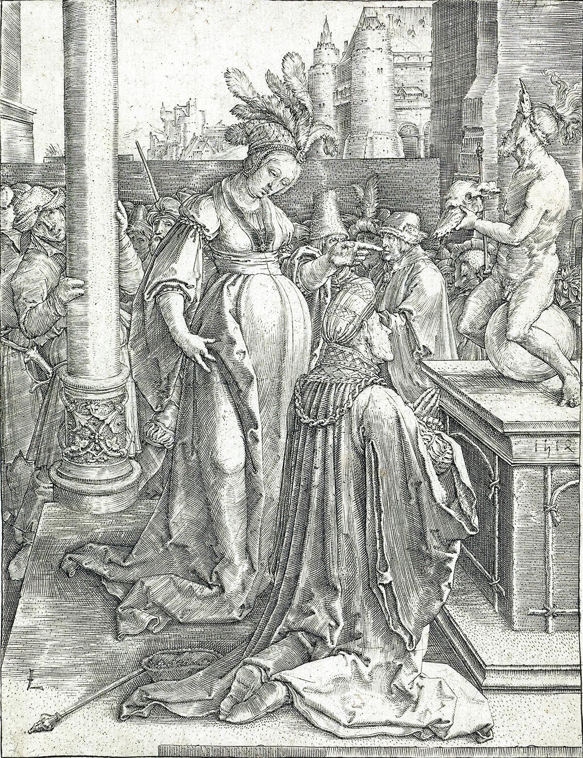 LUCAS VAN LEYDEN Solomons Idolatry.