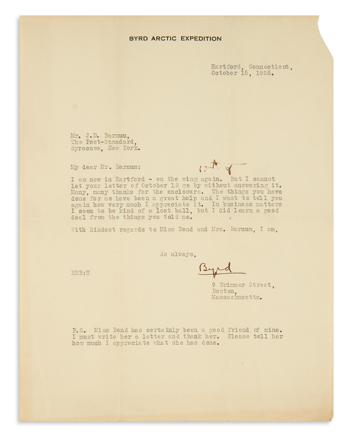 BYRD-RICHARD-E-Small-archive-of-items-sent-to-publisher-of-t