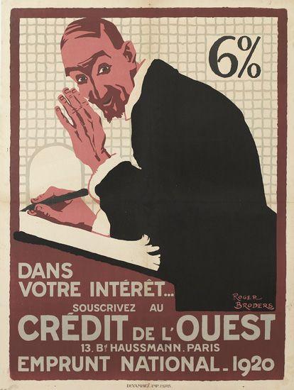 ROGER-BRODERS-(1883-1953)-CRÉDIT-DE-LOUEST-1920-31x23-79x59-