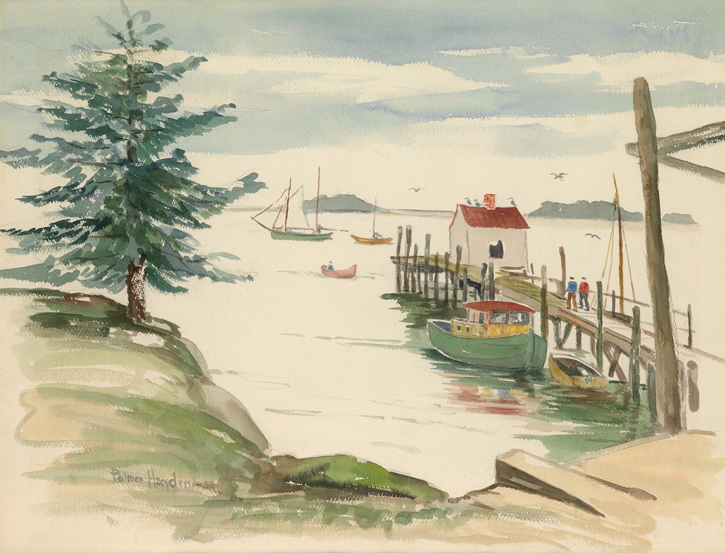 PALMER HAYDEN (1890 - 1973) Boothbay Harbor, Maine.