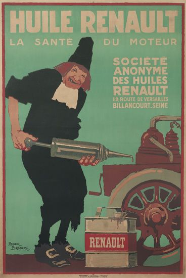 ROGER-BRODERS-(1883-1953)-HUILE-RENAULT-Circa-1920-46x30-inc
