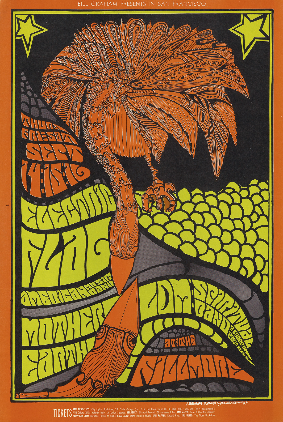 VARIOUS-ARTISTS-[PSYCHEDELIC-ROCK-CONCERTS]-Group-of-7-poste