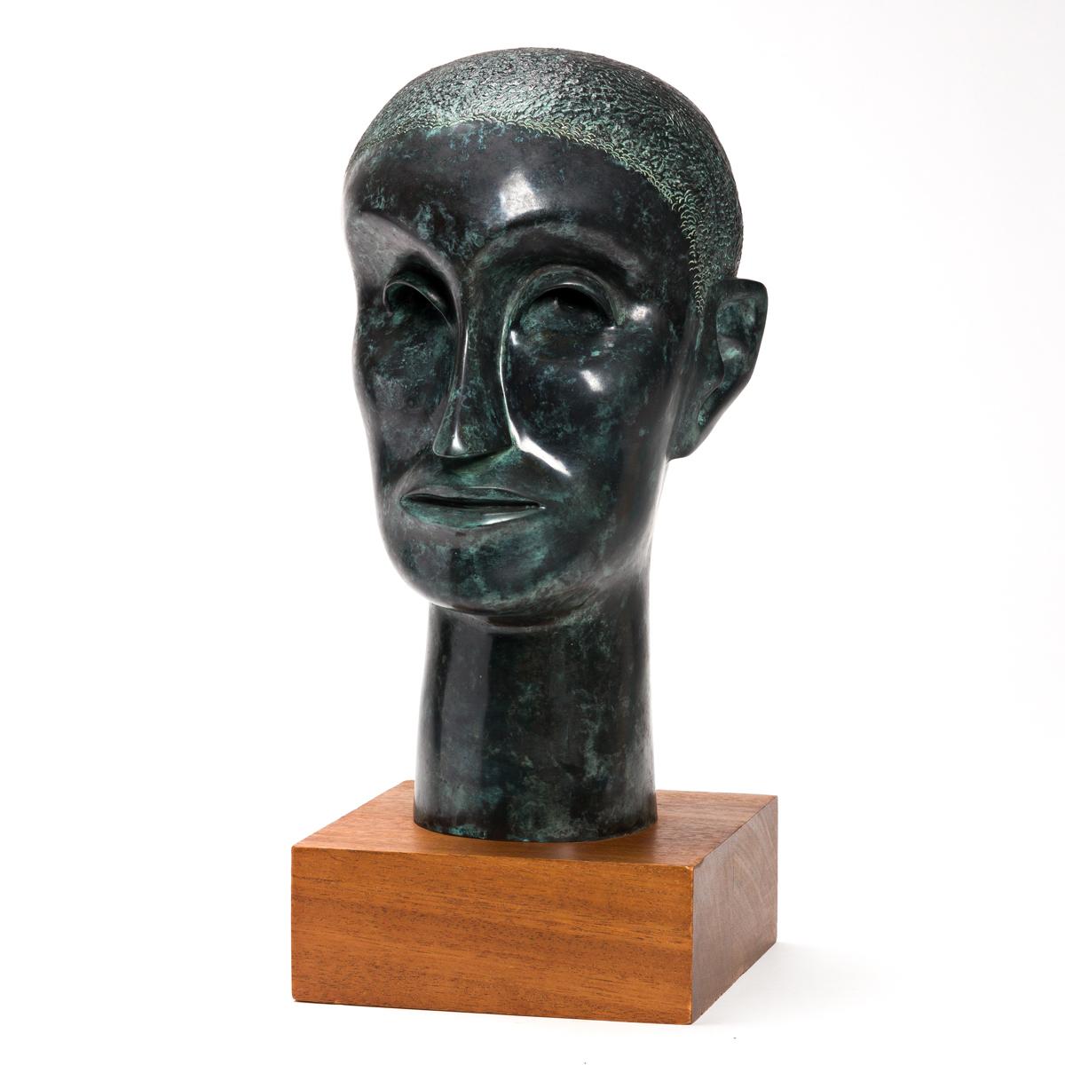 ELIZABETH CATLETT (1915 - 2012) Head of Man (Portrait).